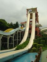 china supplier fiberglass big water slide amusement park games