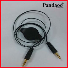 de audio estéreo cable macho a macho cable retráctil