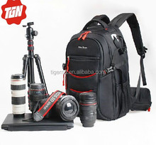 2016 High quality Multi-functional and waterproof camera backpack bags with tripod and laptop pocket