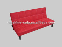 Red Cheap Microfibre Flip Sofa Sleeper Bed