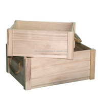Stackable wooden storage bins for moving house and storage