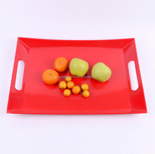 Good Design Round Melamine Serving Tray With Compartment