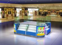 Modern glass store mobile phone display showcase