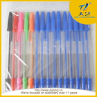pena da impressão do logotipo de fábrica venda barato simples caneta esferográfica