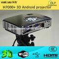full hd 3d micro proyector de android para el teléfono móvil con bluetooth