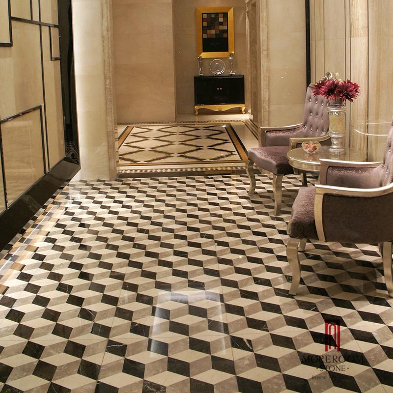 Marble tiles floor designs