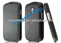Litchi Grain Flip Leather Cover Case For Samsung i8190 Galaxy S3 Mini