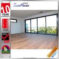 Beautiful house decoration double glazing large sliding glass doors for australia