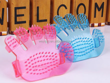 dogs shower tools palm shaped hair brush rubber massage brush Pet Supplies