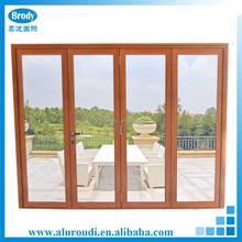 Aluminum Glass Folding Door Commercial Exterior bi folding Doors