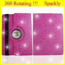 360 Case For Apple iPad Case Rotating Leather Custom for iPad Case Cover Crystal Diamdond Luxury Style Sparkly