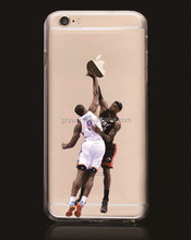 Hot sale NBA clear tpu custom printed for iphone case for iphone 6 6s 6 plus case