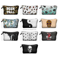Free shipping Alibaba Wholesale 2015 New Fashion 3D Pounch Women Funny Cute Aztec Make Up Cosmetic Bags Make Up Bags Case Pouch