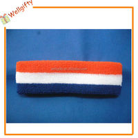 Customized Tennis Sport Logo Toweling Athletic Plain Sweat Band Head Band