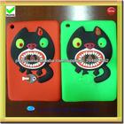 crianças bonito caso tablet silicone para mini-iPad 2