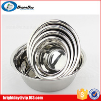 good quality mirror polishing stainless steel small and big size salad bowl