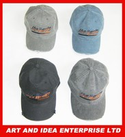 Mens Pigment Dyed Washed Cotton Cap - Adjustable Hat (47 Styles/Colors)