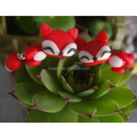 Hot red cut fox 2014 New trend earring Earrings with Polymer clay posts Dangle Earrings
