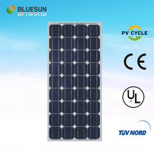 2014 Bluesun best efficiency low price Mono 100W chinese solar panels for industrial use