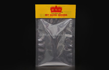 Clear Sides Heat Seal Packaging Bags Plastic For Dried Fruit