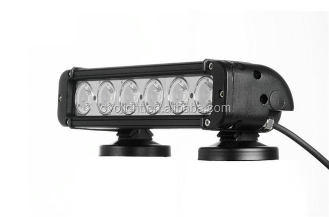 10-30v super bright auto bar 6leds single row 60w cree led light bar