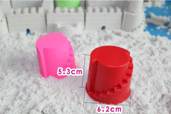 Colorful DIY magic beach kinetic sand toy molds in tool toys for kids as color box packaging