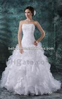 Wholesale - Full Refund Guarantee 2012 New Arrival Strapless A-line Wedding Dresses DH00329
