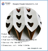 Paint booth filter paper/Pleated cardboard filter (factory price)