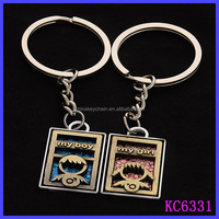 High Quality Promotional Items Cheap Boy And Girl Metal Tag Couples Keychain