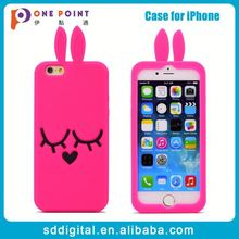 Customized cute rabbit shaped silicone mobile phone case for girl