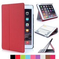PU Flip Stand cover for iPad Air 2 with multi-viewing angles and auto wake/sleep function
