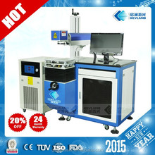 Wuhan stainless steel laser printing machinefor hallmark , bar code marking on metals with laser diode 75W