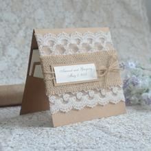 Happiness Wedding Shaped Creative handmade kraft paper cards