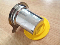 Wholesale sus304 tea strainer bottle with silicone lid