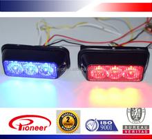 linear led, red/blue/amber/green/purple 10-30v waterproof auto led strobe light