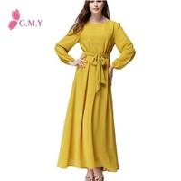 Long Sleeve Women Abaya Islamic clothing New Designer Muslim Maxi Dress Muslim Robe clothing 2015 Muslim Dresses