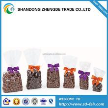 Custom printed food grade plastic opp bread bag with reinforced side sealing