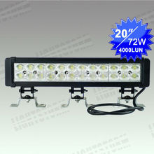 72W dual row off road led light bar 24v, truck ,tractor driving bar for SUV ,4WD