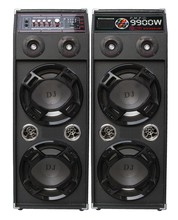 Double 10 inch 2.0 speaker with bluetooth FM and remote control