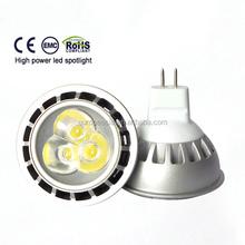 CE RoHS LED Spotlights GU10 3*1W mr16 led