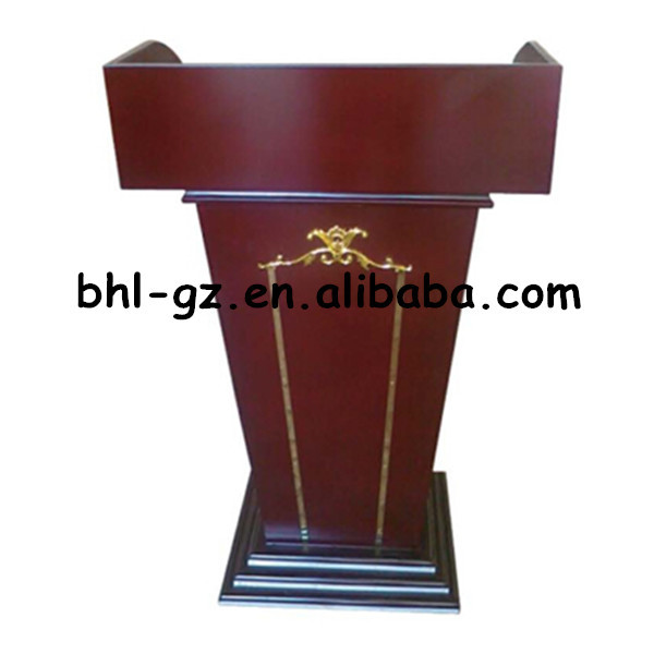 Gentil Guangzhou Hotel Wholesale Supply Hotel Furniture Supply Wooden Rostrum Stage  Podium Designs Modern Church Podium T342