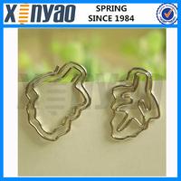 2015 NEW Arrived customer logo metal silver leaves shape paper clip decorative shape paper clip