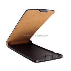 Magnet closure flip pu leather case cover for sony xperia m2