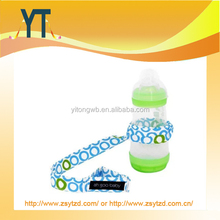 YT China Wholesalers Polyester White With Blue and Green Dots Printing Sippy Cup/Bottle/Toy Strap/Leash
