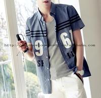 jeans blue short sleeve printed latest shirt designs for men