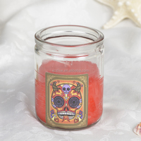 Wholesale 2015 Hot Sales 3.2Inch High Glass Religious Candle