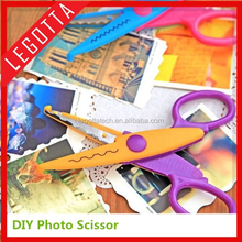 New design kids scissors for DIY photo album handmade, 6 patterns laciness scissors craft scissors