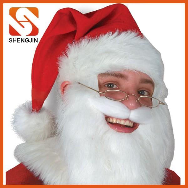 Hot sales fleece funny beard santa hat buy