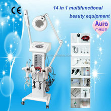 2015 Professional 14 in 1 multifunctional skin care device galvanic body muscle relaxer