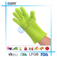 FDA Silicone Gloves, Insulated, Heat Resistant Oven Gloves, Perfect Protection For Both Cooking In Kitchen and Grilling on BBQ